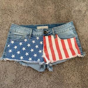 Pacsun | Denim American Flag Shorts